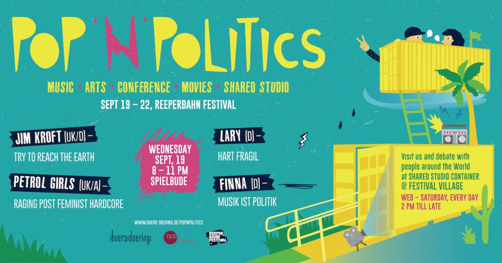 POP'N'POLITICS, Pop and Politics, Reeperbahnfestival, Hamburg, Musik wird politisch, Fachhandel für Ereignisse, Buero Doering