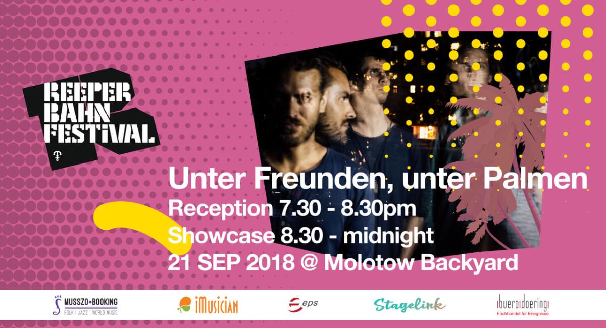 Unter Freunden, unter Palmen Reception & Showcase by eps, iMusician, Stagelink, Musszo & buero doering
