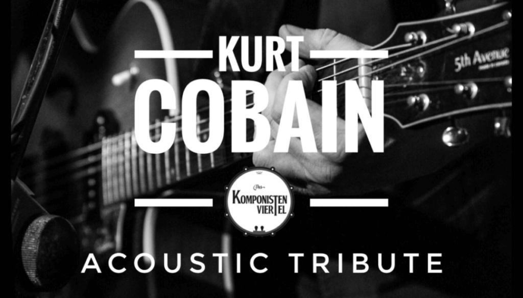 Komponistenviertel, Kurt Cobain, Gitarre, Schwarz-Weiß-Fotografie