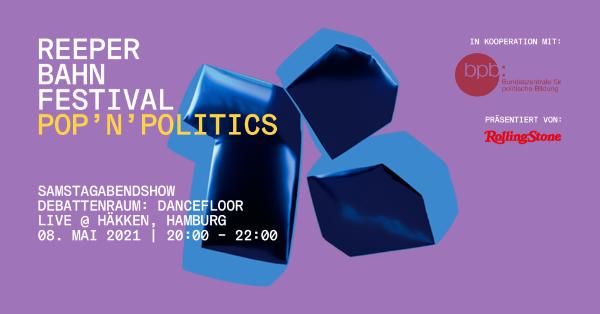 """Samstagabendshow """"pop'n'politics – Debattenraum: Dancefloor. Gedanken, Geschichten und Songs über Gender, Diversity und Identität"""""""